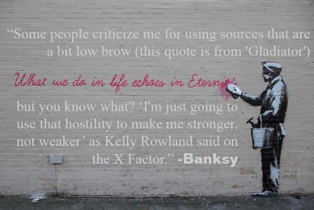 Banksy Invokes Kelly Rowland & Gladiator