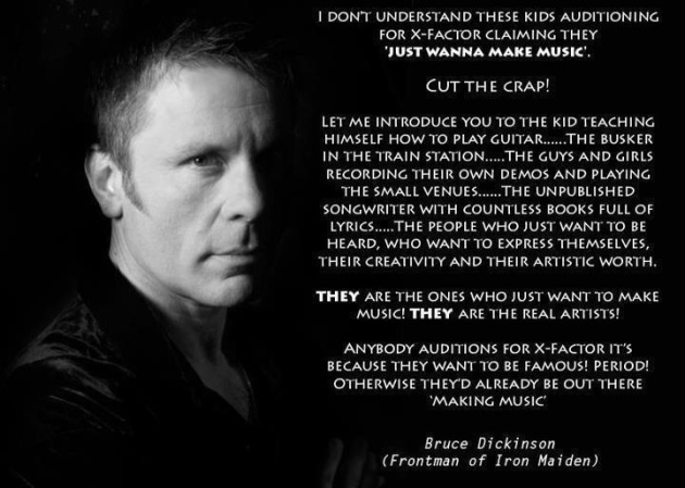Bruce Dickinson of Iron Maiden Drops Wisdom. Recognize.