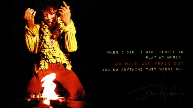 Jimi Hendrix Wants You To Rock Out After He Dies