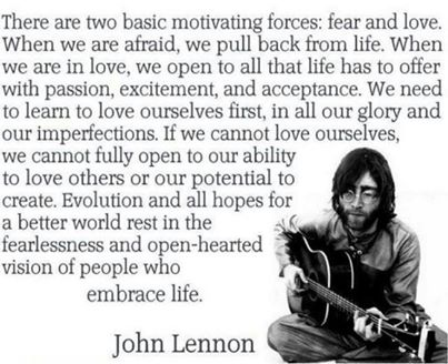 John Lennon Reminds It's All Just Fear & Love