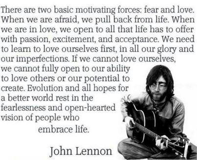 John Lennon Reminds It's All Just Fear & Love