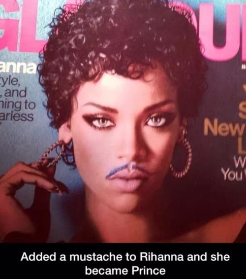Rihanna + Porno 'Stache = Prince