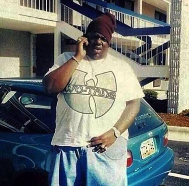 Just Biggie Wearing A Wu-Tang Shirt.